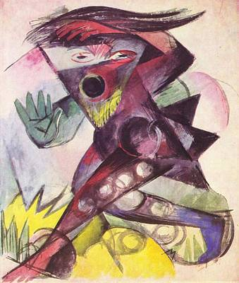 Caliban From The Tempest By William Shakespeare 1914 Poster by Franz Marc