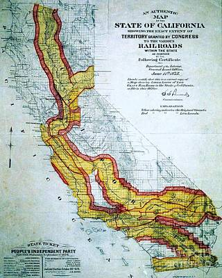 California And The Railroads Poster by Pg Reproductions