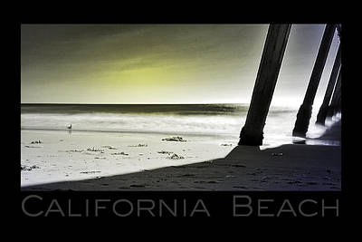 Poster featuring the photograph California Beach by Kevin Bergen