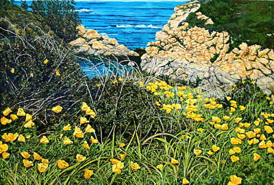 California Poppies Poster by Thomas Akers
