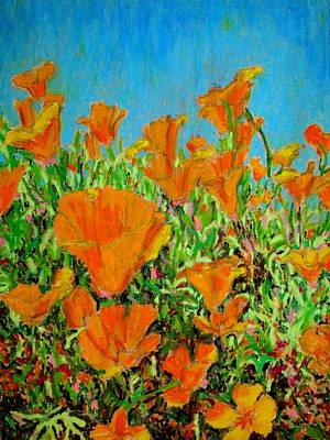 California Poppy Painting Poster