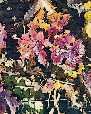 California Vineyard Series Fall Grape Leaves Poster