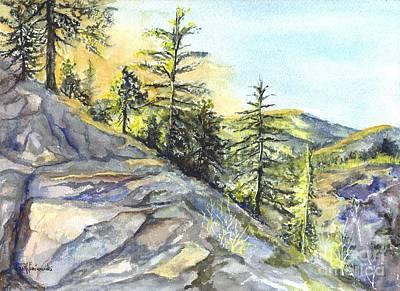 Californias Sierras Poster by Carol Wisniewski