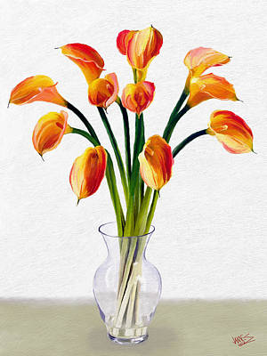 Calla Lillies Poster by James Shepherd