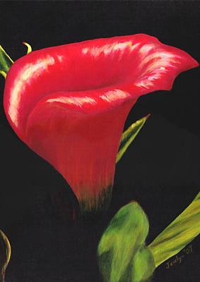 Poster featuring the painting Calla Lily by Jesslyn Fraser