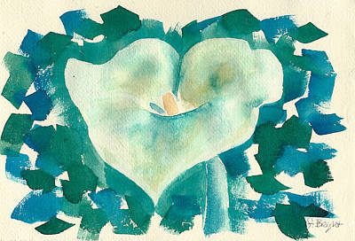 Calla Lily Watercolor Poster by Frank Bright
