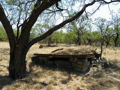 Callahan City Texas Cemetery Limestone Tomb Poster