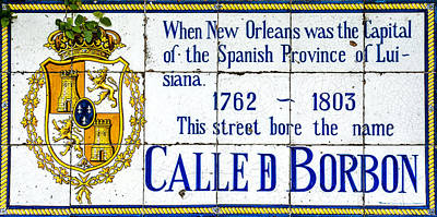 Calle D Borbon Poster by David Morefield