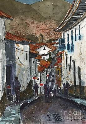 Calle Triunfo In Cusco Peru Poster by Tim Oliver