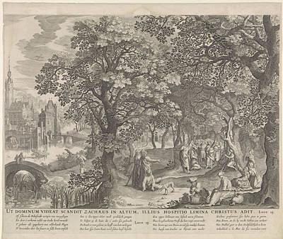 Calling Of Zacchaeus, Anonymous, Nicolaes Visscher II Poster