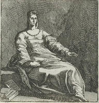 Calliope, Pieter Nolpe, Hendrick Goltzius Poster by Pieter Nolpe And Hendrick Goltzius And Johannes Colom