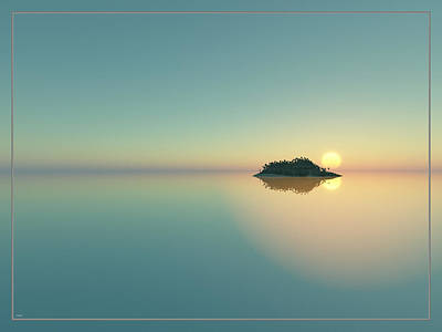 Calm Seas Sunset... Poster