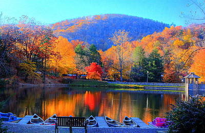 Calm Waters In The Mountains Poster