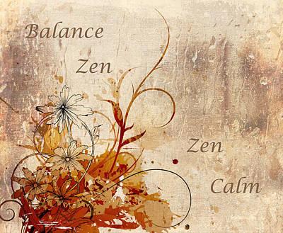 Calming Zen Poster