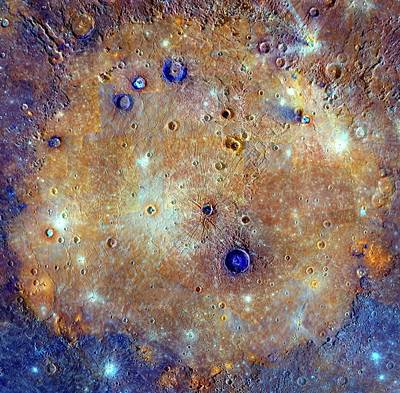 Caloris Basin Poster by Nasa/johns Hopkins University Applied Physics Laboratory/carnegie Institution Of Washington