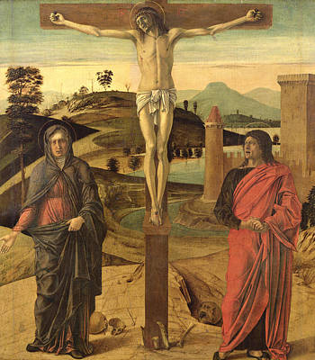 Calvary Poster by Giovanni Bellini