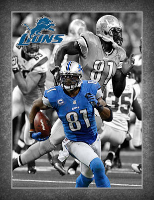 Calvin Johnson Lions Poster