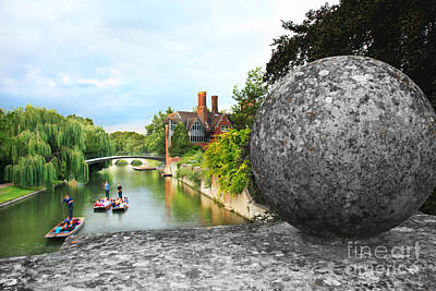 Punting In Cambridge Poster by Eden Baed