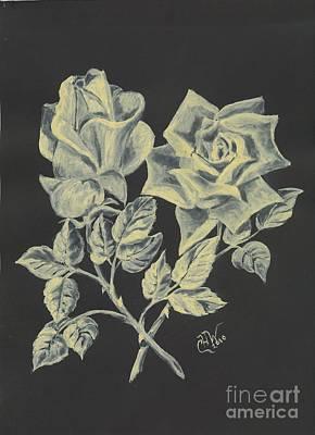 Cameo Rose Poster by Carol Wisniewski