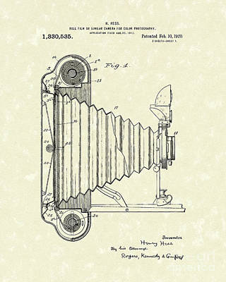 Camera 1920 Patent Art Poster by Prior Art Design