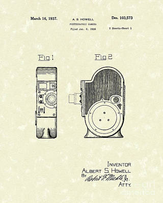 Camera 1937 Patent Art Poster by Prior Art Design