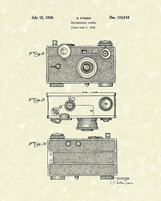 Camera 1938 Patent Art Poster by Prior Art Design