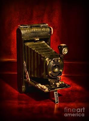 Camera - Vintage Kodak Pocket Camera Poster by Paul Ward
