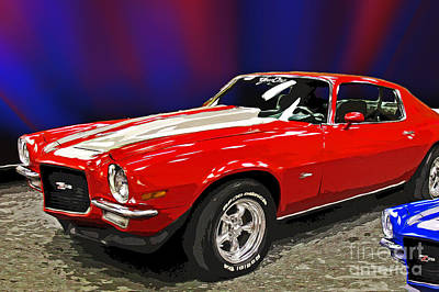 Camero Z28 Poster by Tom Gari Gallery-Three-Photography