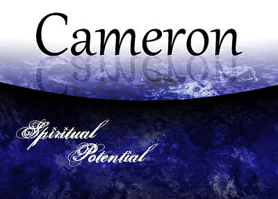 Cameron - Spiritual Potential Poster by Christopher Gaston