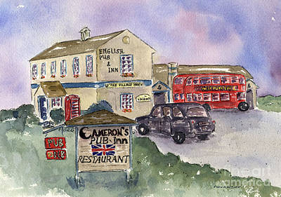Cameron's Pub And Restaurant Poster by Diane Thornton