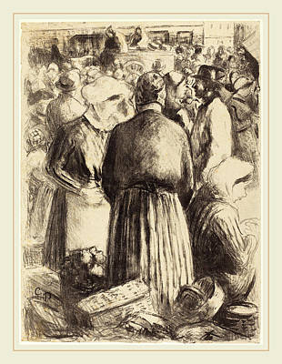 Camille Pissarro French, 1830-1903, Market At Pontoise Poster
