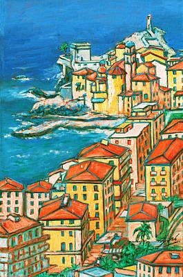 Camogli - Italian Riviera Poster by Xueling Zou