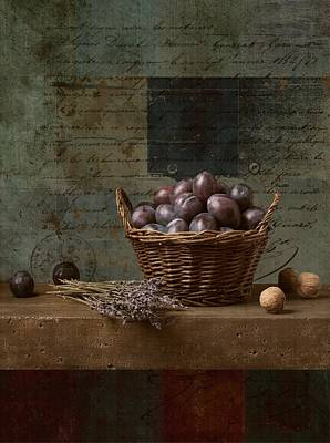 Campagnard - Rustic Still Life - S01otxt1ds1 Poster by Variance Collections