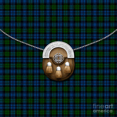 Campbell Tartan And Sporran Poster by Chris MacDonald