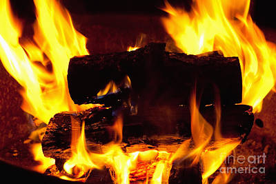 Campfire Burning Poster
