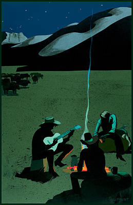 Campfire Poster by Clifford Faust