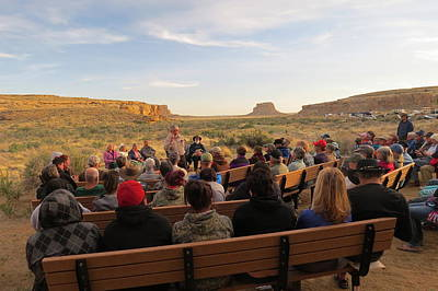 Campfire Talk At Chaco Canyon Poster