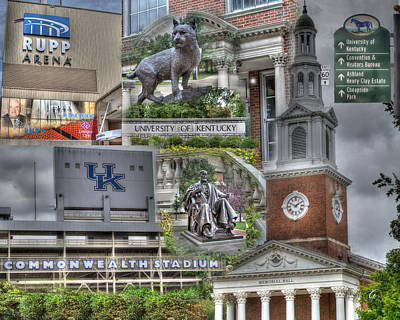 Campus Life University Of Kentucky Poster by Gina Munger
