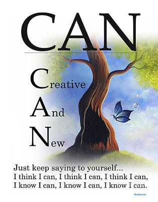 Can Buseysm Original Buseyism Artwork Poster by Buseyisms Inc Gary Busey