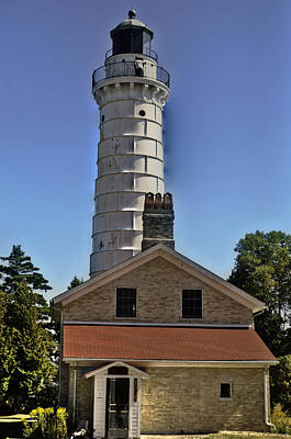 Poster featuring the photograph Cana Island Lighthouse by Deborah Klubertanz