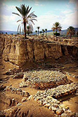 Canaanite Altar -- Megiddo Poster by Stephen Stookey