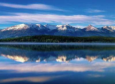 Canada, Alberta, Pyramid Lake In Jasper Poster by Jaynes Gallery