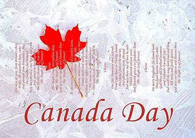 Canada Day .. The Maple Leaf Forever Poster by The Creative Minds Art and Photography