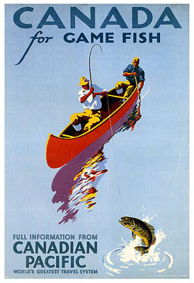 Canada For Game Fish Poster by Georgia Fowler