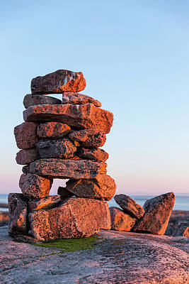 Canada, Nunavut, Territory, Setting Sun Poster