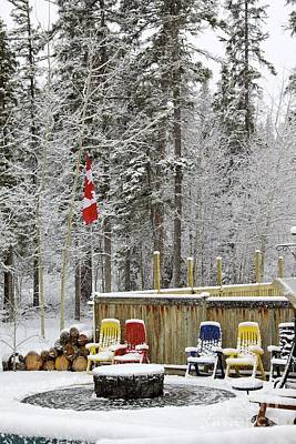 Canadian Backyard Poster by Alanna DPhoto