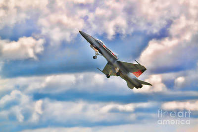 Canadian Cf18 Hornet Taking Flight  Poster by Cathy  Beharriell