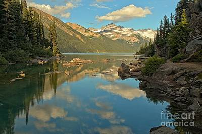 Canadian Coastal Mountain Reflections Poster