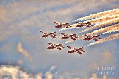 Canadian Forces Snowbirds 2013 Upside Down Formation Poster by Cathy  Beharriell