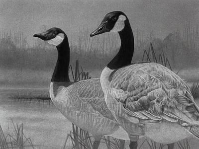Canadian Geese Poster by Tim Dangaran